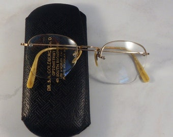 69e058d66e Vintage Shuron Eyeglasses 12K Gold Filled Frames With Hard Case Bifocal  Glasses Top Frame and Rimless