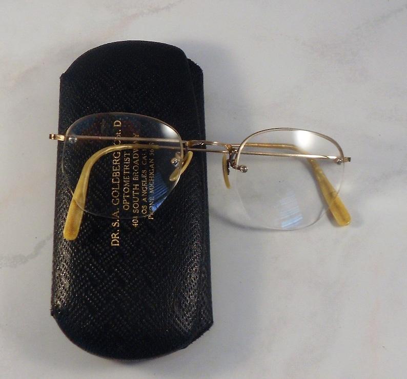 dfa8ca53f197 Vintage Shuron Eyeglasses 12K Gold Filled Frames With Hard   Etsy
