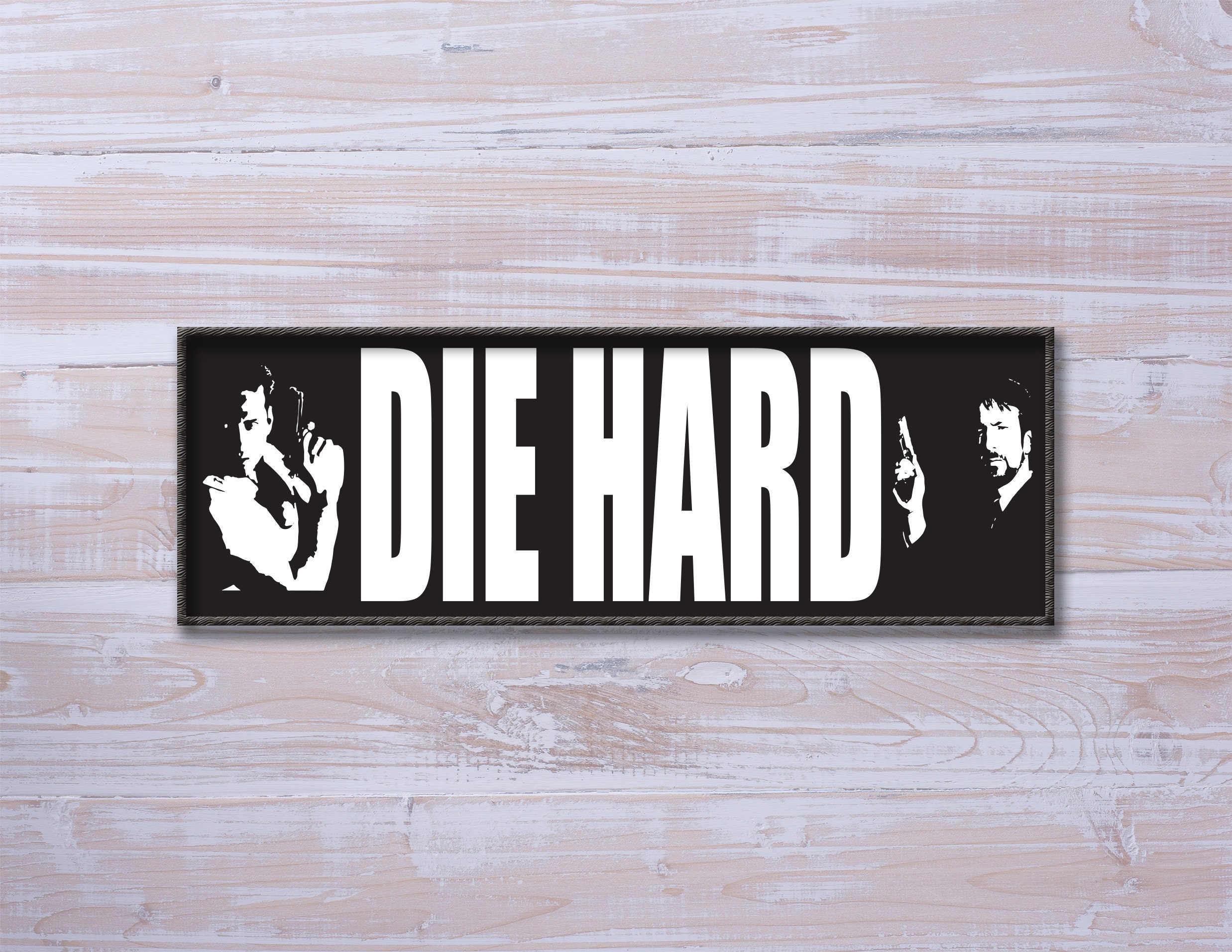 Die Hard Inspired Movie Poster Hero and Villain Bruce | Etsy