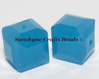 144 Cuentas De Cristal Swarovski Bicono 4mm ópalo azul Caribe #5301