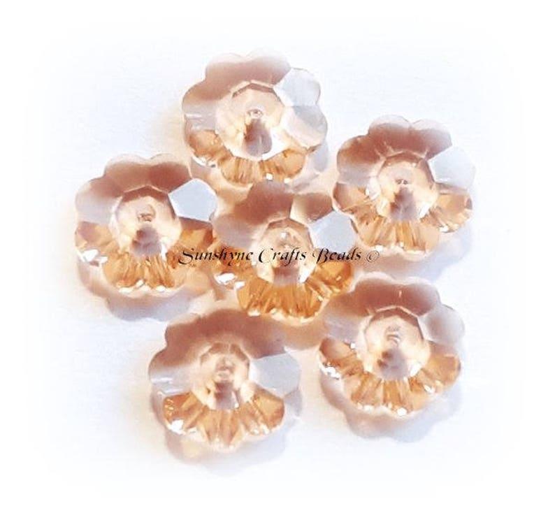 4mm Light Peach Genuine Swarovski crystal 5328 XILION Bicone Beads 362