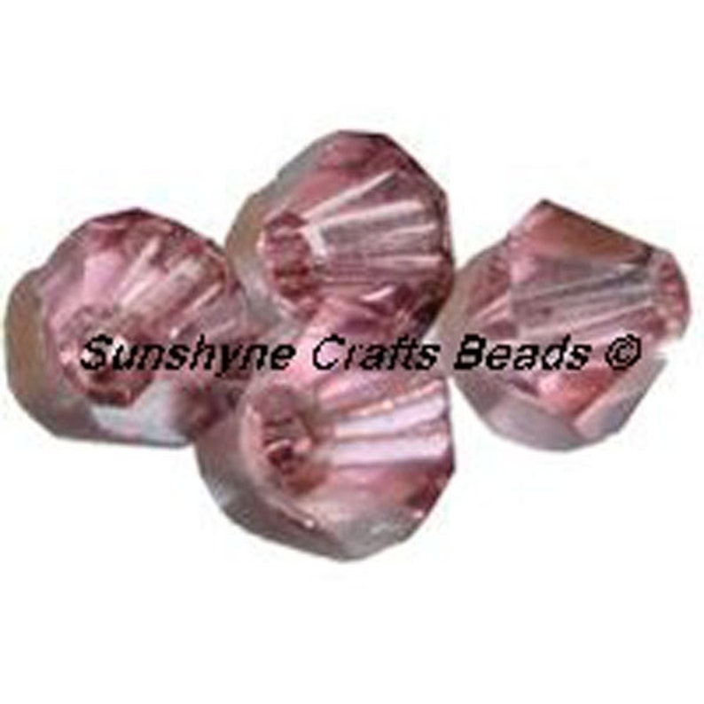 Beads & Jewellelry Making Supplies 5328 Swarovski® Crystal Bicone Beads Light Rose Satin Art & Craft Supplies