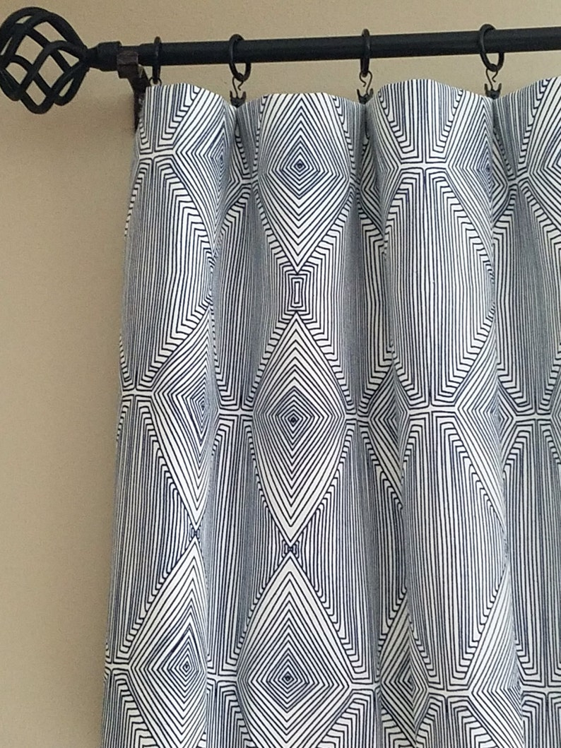 42caef2a2a8da Drapery curtain panels, window curtains, Custom widths, lengths available  and lining. Message me. Blue curtain. Valances available.