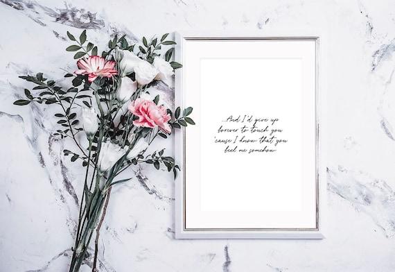 Goo Goo Dolls Iris Music Love Song Lyric Print Wedding Dance Valentine Gift