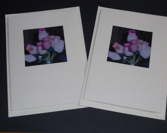 Handmade blank greetings cards (pack of two)