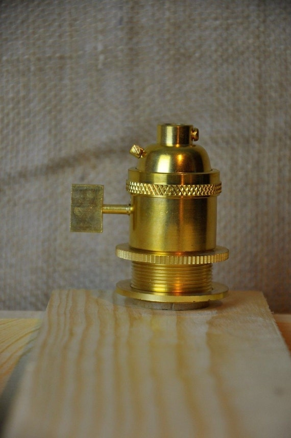 Unfinished Brass Uno Light Bulb Socket Uno Threaded Socket For Handmade Lights
