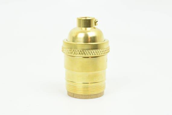 Unfinished Brass Uno Threaded Bulb Socket Light Socket Lamp Parts Diy Light Fixture E26 E27 Diy Lamp Parts Keyless Vintage Style