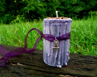 Clairvoyance Candle ~ Second Sight Candle ~ Wicca Spell Candle ~ Witch's Drippy Candle ~ Spell Candle ~ Witchcraft Candle ~ Mystics Realm