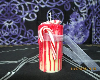 Winter Solstice Candle ~ Spell Candle ~ Witchcraft Candle ~ Wicca Spell Candle ~ Drippy Candle ~ Wicca Ritual Candle ~ Christmas Candle