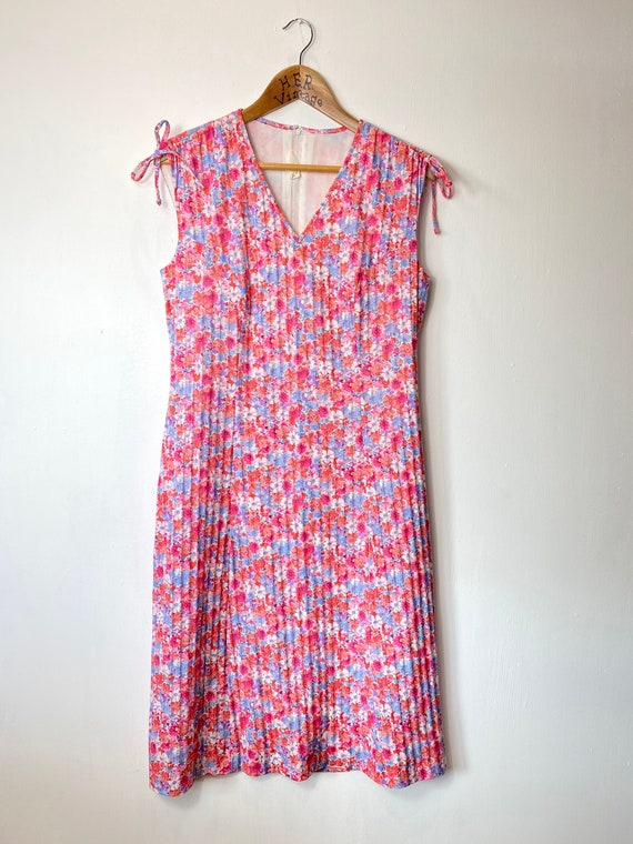 Pink 60s 70s Floral Day Dress. Ditsy Print Summer… - image 1