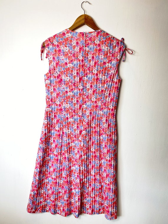 Pink 60s 70s Floral Day Dress. Ditsy Print Summer… - image 2