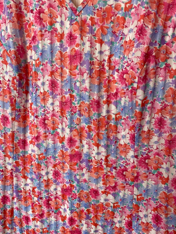 Pink 60s 70s Floral Day Dress. Ditsy Print Summer… - image 3