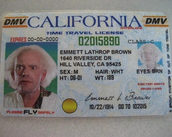 Back to the Future  [ Doc Emmett Brown - Time Travel License ] - B3G1F