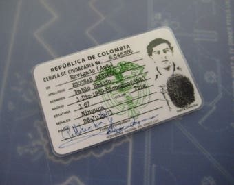 Pablo Escobar ( El Patron's ) Columbian I.D. Card