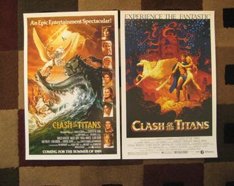 """Clash of the Titans (11"""" x 17"""") Movie Collector's Poster Prints ( Set of 2 )"""