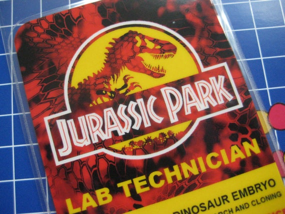 Jurassic Park Lab Technician Prop ID Badge B3G1F