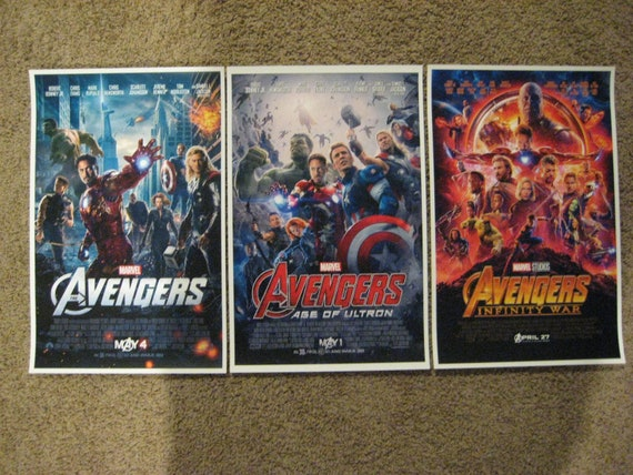 """11/"""" x 17/"""" Avengers Movie Collector/'s Poster Print Age of Utron"""