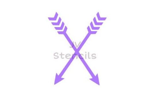 2 Arrows Stencil Etsy