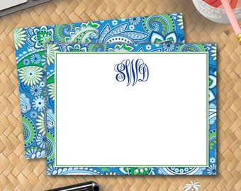 LowCountryNoteCards Paisley Watercolor Stationery