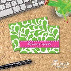 Folded Notecards Calling Cards Splash Mini Bundle Custom Notepad Stationary Flat Note Cards Personalized Stationery Gift Set