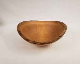 Large Live Edge Cherry Wooden Salad Bowl