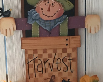 Harvest Wall Hanging, Harvest, Scarecrow, Renee Mullins, Fall, Holiday Decor, Home Decor, Fall Decor, Pumpkins, free shipping