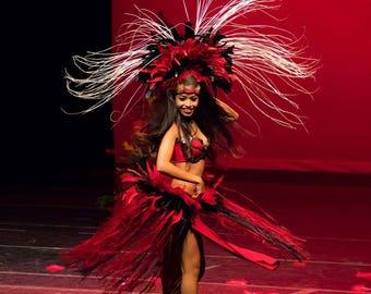 Tahitian pageant costume KU'UIPO