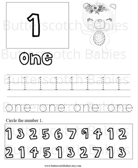 Kindergarten Worksheets Preschool Worksheets Kindergarten Etsy