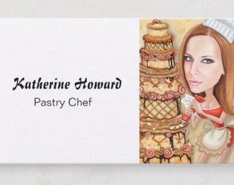 Baker business card etsy pastry chef business card custom cartoon caricature portrait with custom business card design baker business cards bakery business card colourmoves