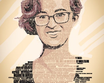 Text Art Portrait from your Photo / custom word art portrait / typographic portrait / text portrait / personalized word art /custom text art