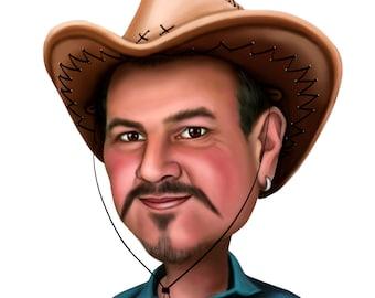 Custom Cartoon Portrait from your Photo / personalized cartoon / cartoon from photo / cartoon style / custom portrait / custom caricature