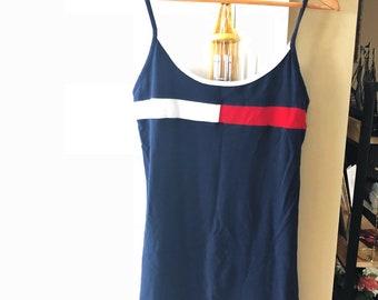 02e5a56a1abe Vintage Tommy Hilfiger Slip Body Con Dress