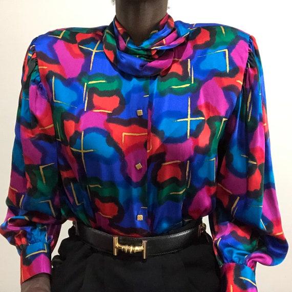 Vintage 1980s Saks Fifth Avenue Pure Silk Charmeu… - image 5