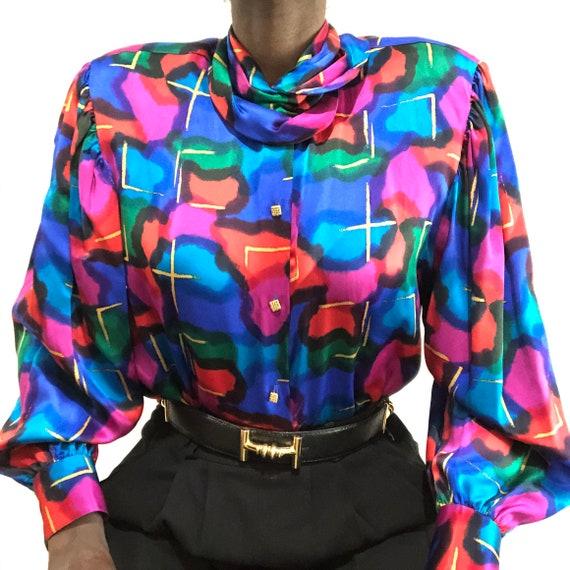 Vintage 1980s Saks Fifth Avenue Pure Silk Charmeus
