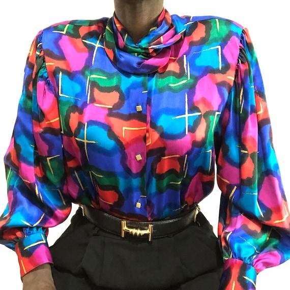 Vintage 1980s Saks Fifth Avenue Pure Silk Charmeu… - image 2