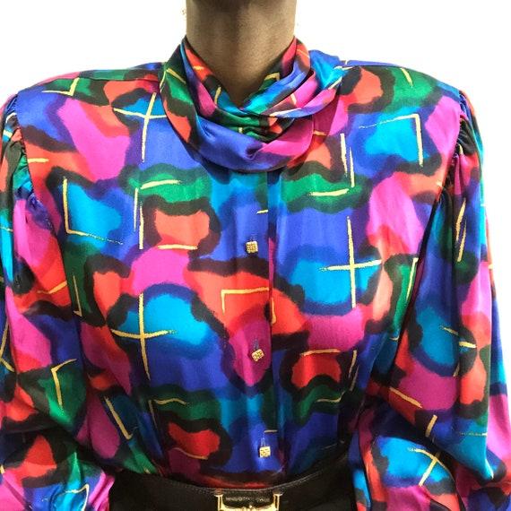 Vintage 1980s Saks Fifth Avenue Pure Silk Charmeu… - image 4