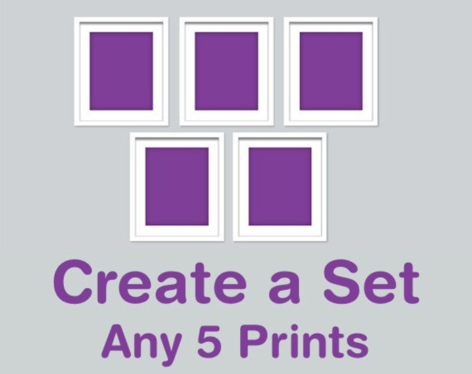 CREATE A SET OF 5 - Choose your own combination of any 5 Rhys and Ryn prints in any size (R&RCREATE5)