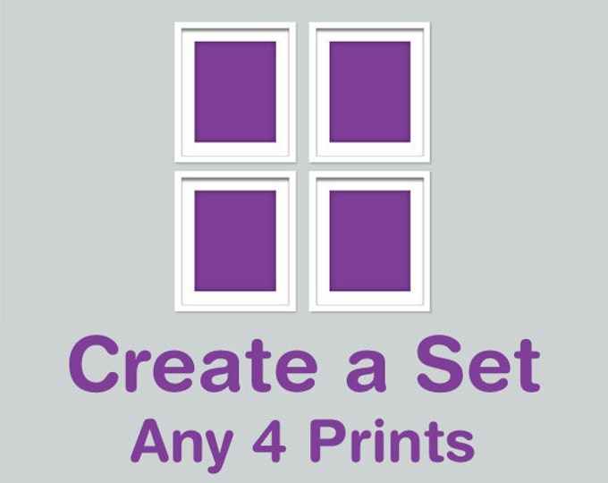 CREATE A SET OF 4 - Choose your own combination of any 4 Rhys and Ryn prints in any size (R&RCREATE4)