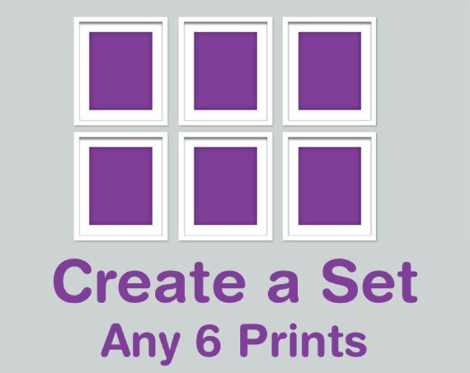 CREATE A SET OF 6 - Choose your own combination of any 6 Rhys and Ryn prints in any size (R&RCREATE6)