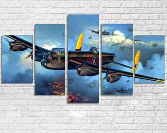 Lancaster Bomber 5 PC Canvas Set