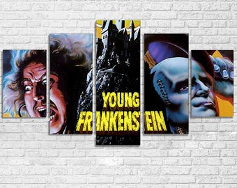 Young Frankenstein 5 PC Canvas Set