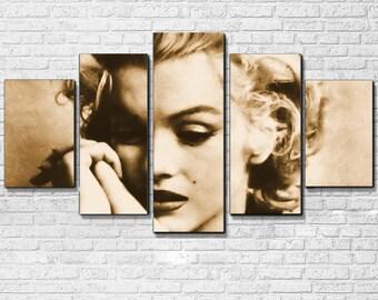 Marilyn Monroe 5 PC Canvas Set