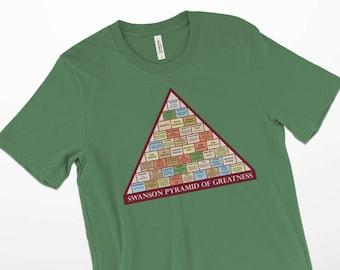 Ron Swanson Shirt,Swanson Pyramid of Greatness Tshirt,Ron Swanson Tshirt,Parks and Rec Tshirt