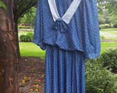 Pretty Vintage dress with sailor collar FREE SHIPPING