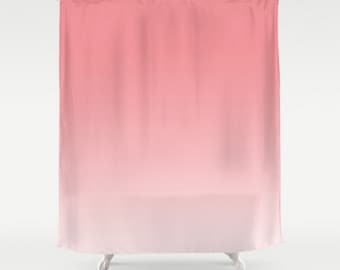 Pink Ombre Shower Curtain Strawberry Ice Pantone Color Light Pastel Home Bath Room Decor Custom Add A Matching Mat