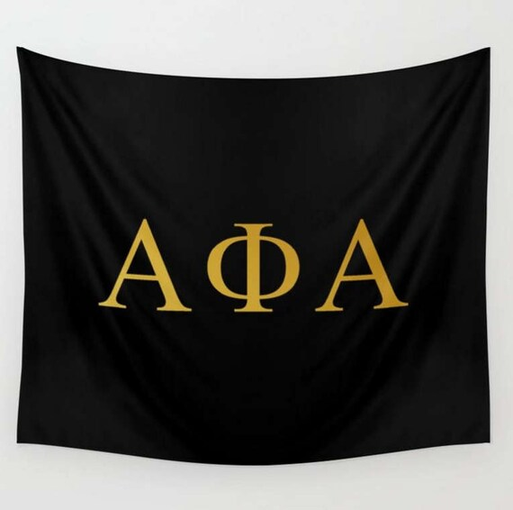 Custom Fraternity Sorority Greek Symbols Wall Tapestry Etsy