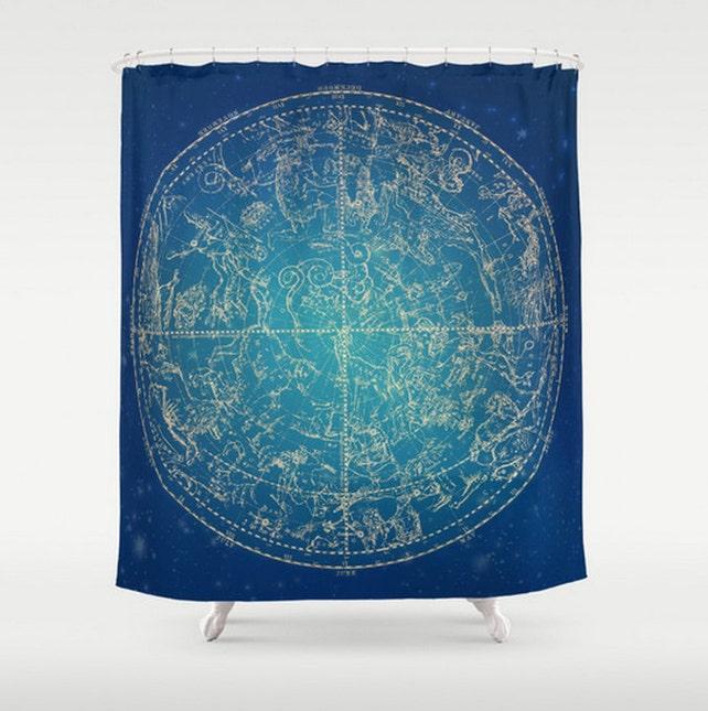 Zodiac Shower Curtain Custom Size Constellation