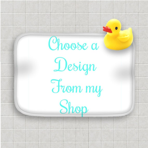 Design Your Own Bath Mat Choose Design From My Shop Custom Etsy