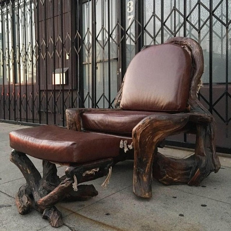 Stupendous Handcrafted Live Burl Redwood Armchair By Daryl Stokes Download Free Architecture Designs Scobabritishbridgeorg