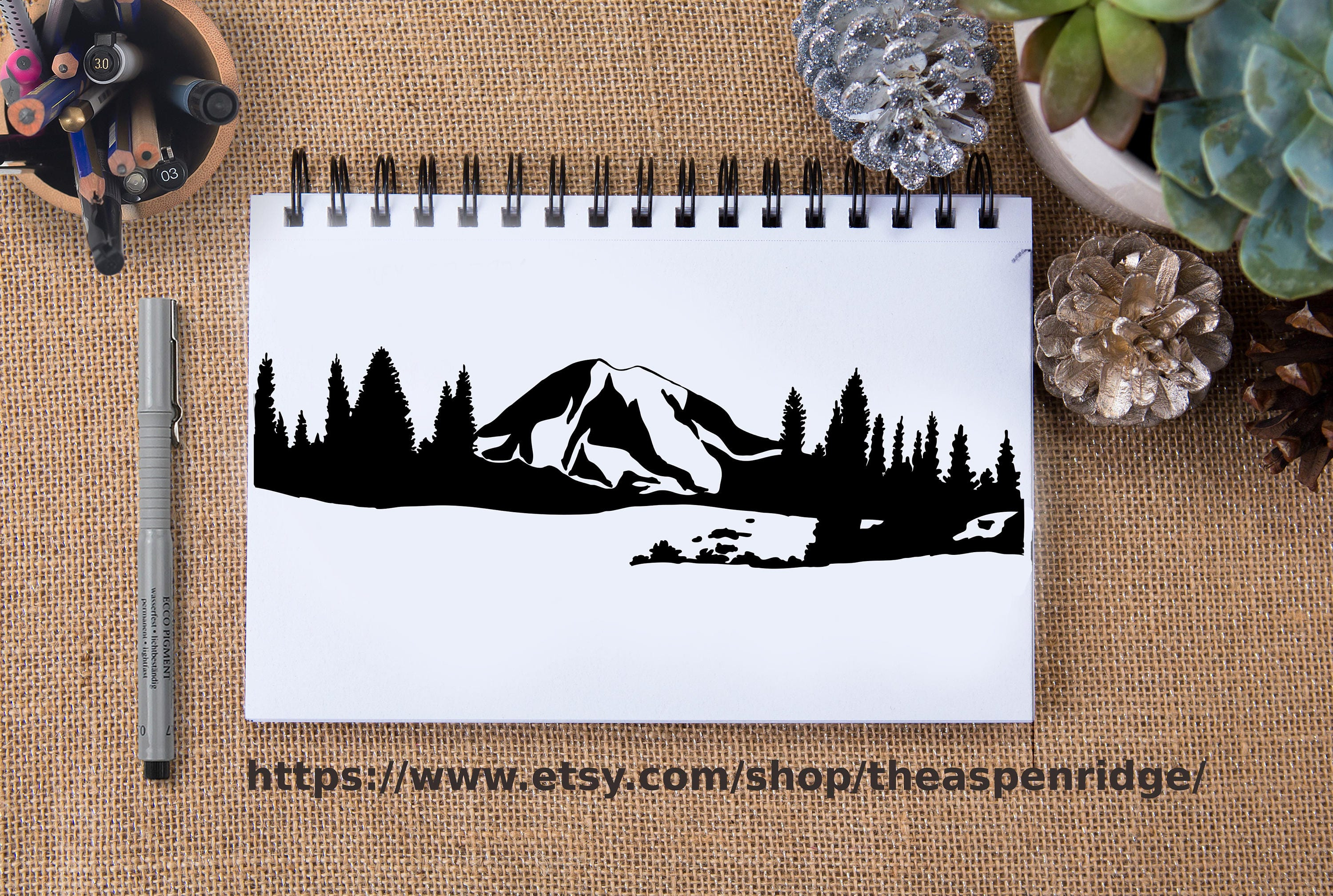 It's just a picture of Astounding Mt Rainier Drawing